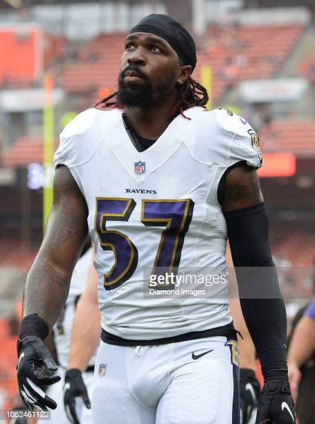 Linebacker CJ Mosley of the Baltimore Ravens walks off the field prior to a game against the Cleveland Browns on October 7 2018 at FirstEnergy...