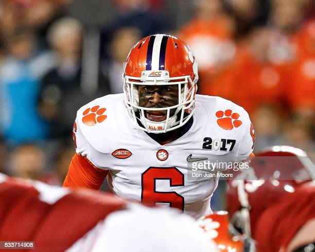 Linebacker Dorian O'Daniel of the Clemson Tigers during the 2017 College Football Playoff National Championship Game against the Alabama Crimson Tide...