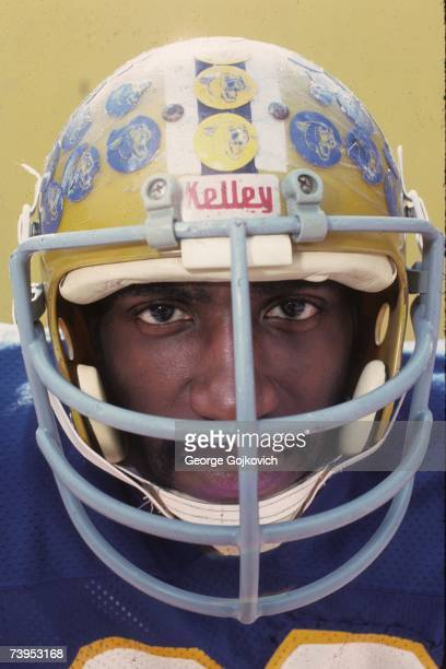 Linebacker Hugh Green of the University of Pittsburgh Panthers poses for a photograph during media day at Pitt Stadium in August 1980 in Pittsburgh...