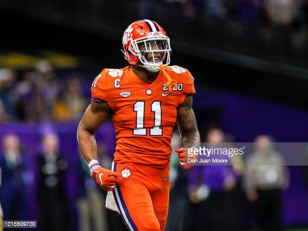 Linebacker Isaiah Simmons of the Clemson Tigers during the College Football Playoff National Championship game against the LSU Tigers at the...
