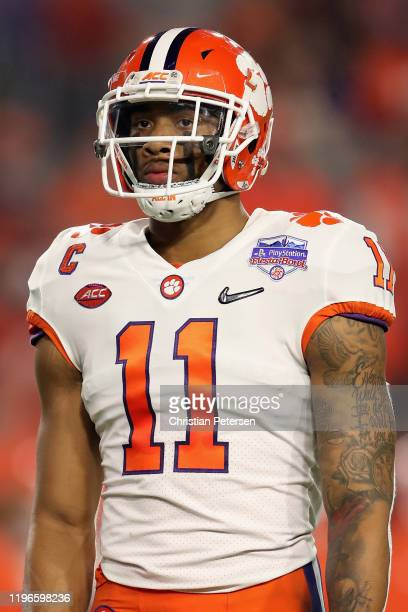 Linebacker Isaiah Simmons of the Clemson Tigers during the PlayStation Fiesta Bowl against the Ohio State Buckeyes at State Farm Stadium on December...