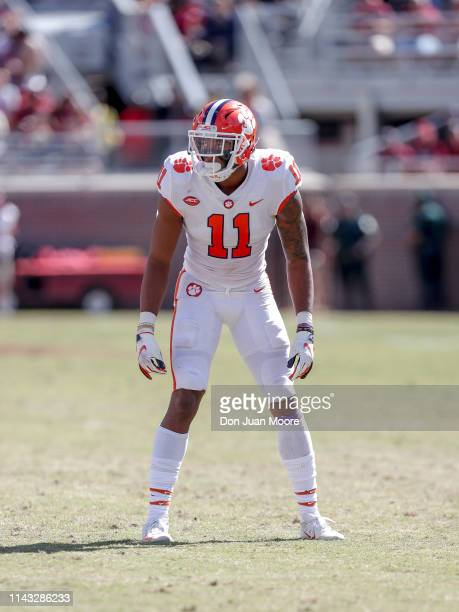 Linebacker Isaiah Simmons of the Clemson Tigers during the game against the Florida State Seminoles at Doak Campbell Stadium on Bobby Bowden Field on...