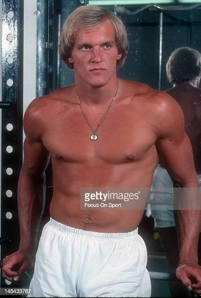 Linebacker Jack Lambert of the Pittsburgh Steelers poses for this photo circa 1974 at Three Rivers Stadium in Pittsburgh Pennsylvania Lambert played...