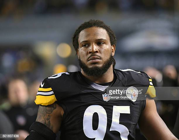 Linebacker Jarvis Jones of the Pittsburgh Steelers looks on from the sideline during a game against the Indianapolis Colts at Heinz Field on December...