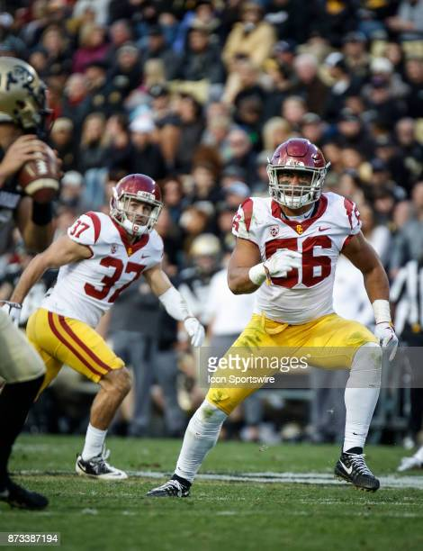 USC linebacker Jordan Iosefa plays during the Colorado Buffalos game versus the USC Trojans on November 11 at Folsom Field in Boulder Co USC won the...