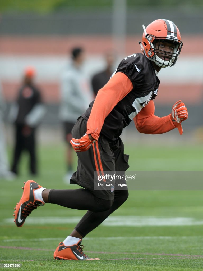 huge selection of f2c83 97798 Linebacker Kenneth Olugbode of the Cleveland Browns takes ...