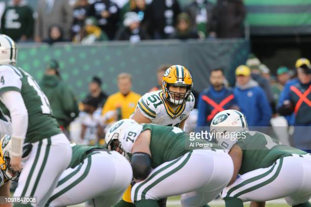 Linebacker Kyler Fackrell of the Green Bay Packers in action against the New York Jets at MetLife Stadium on December 23 2018 in East Rutherford New...