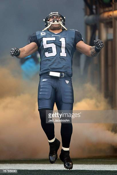 Linebacker Lofa Tatupu of the Seattle Seahawks comes out of the tunnel before the game against the Washington Redskins during the NFC Wild Card game...