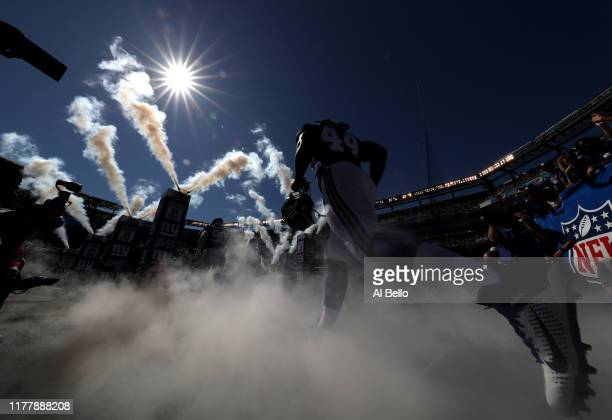 Linebacker Markus Golden of the New York Giants takes the field for the game against the Washington Redskins at MetLife Stadium on September 29 2019...