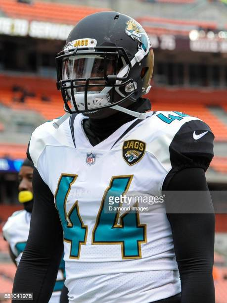 Linebacker Myles Jack of the Jacksonville Jaguars walks off the field prior to a game on November 19 2017 against the Cleveland Browns at FirstEnergy...