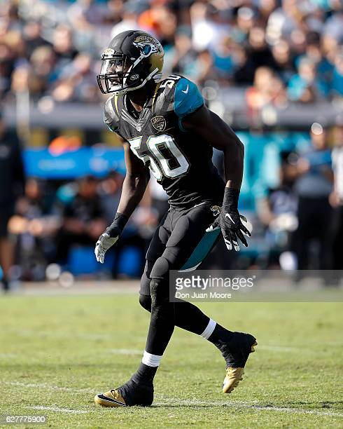 Linebacker Telvin Smith of the Jacksonville Jaguars during the game against the Denver Broncos at EverBank Field on December 4 2016 in Jacksonville...