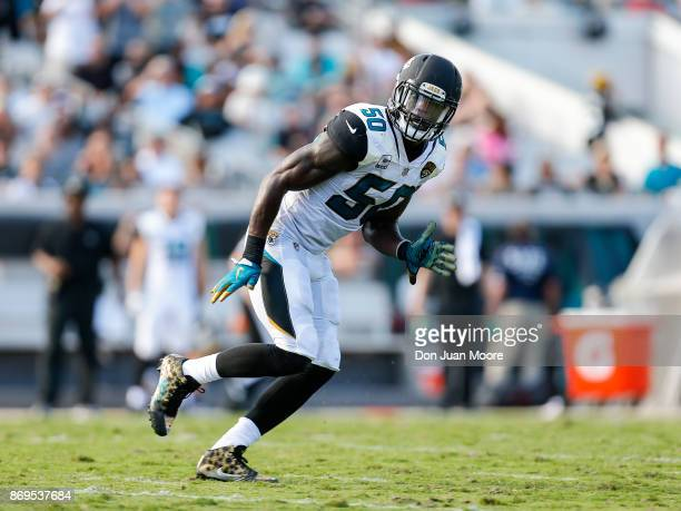 Linebacker Telvin Smith of the Jacksonville Jaguars during the game against the Los Angeles Rams at EverBank Field on October 15 2017 in Jacksonville...