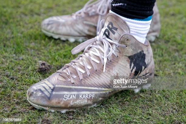 Linebacker Telvin Smith of the Jacksonville Jaguars wears My Cause My Cleats during the game against the Indianapolis Colts at TIAA Bank Field on...