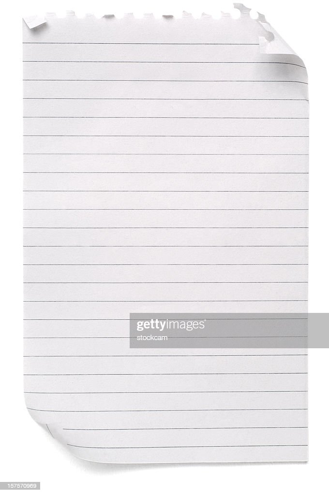 Lined Sheet Of Blank Note Paper  Blank Lined Page