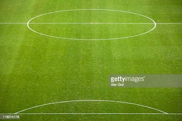 Lined soccer field
