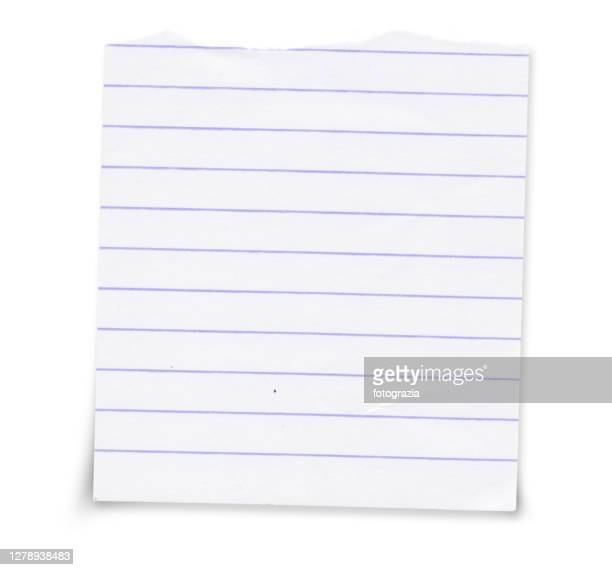 lined white torn paper - lined paper stock pictures, royalty-free photos & images