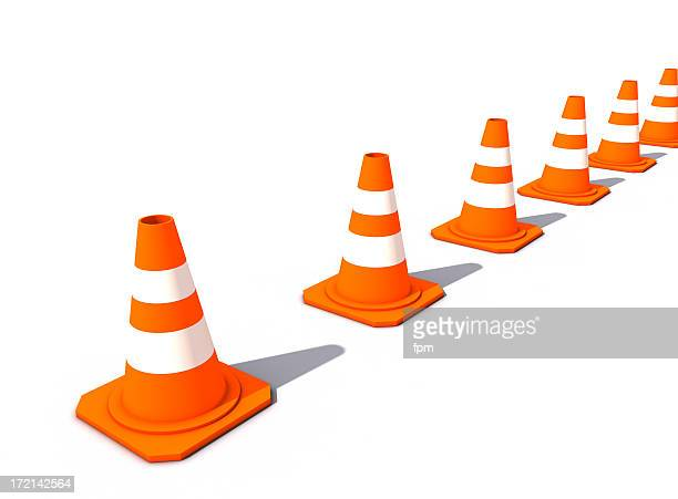 Lined-up Cones