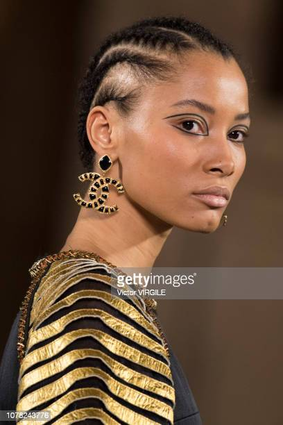 Lineisy Montero walks the runway at Chanel Metiers D'Art 2018/2019 Fashion show at The Metropolitan Museum of Art on December 04 2018 in New York City