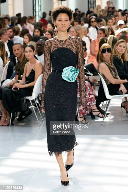 Lineisy Montero walks the runway during the Alexandre Vauthier Haute Couture Fall/Winter 2019 2020 show as part of Paris Fashion Week on July 02 2019...