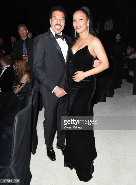 Linel Richie and Lisa Parigi attend the 26th annual Elton John AIDS Foundation Academy Awards Viewing Party with cocktails by Clase Azul Tequila at...