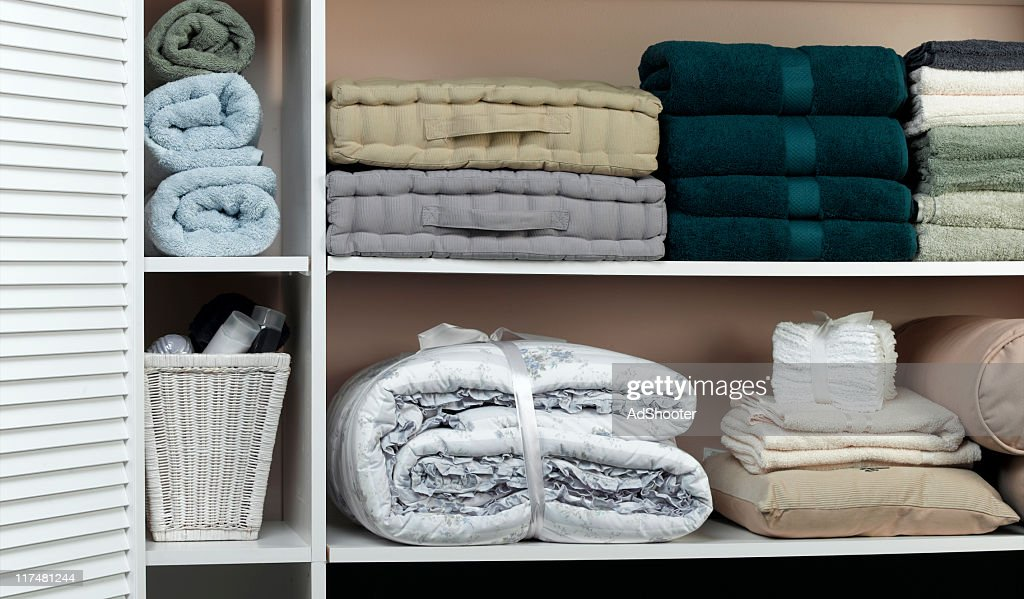 Linen Closet : Stock Photo