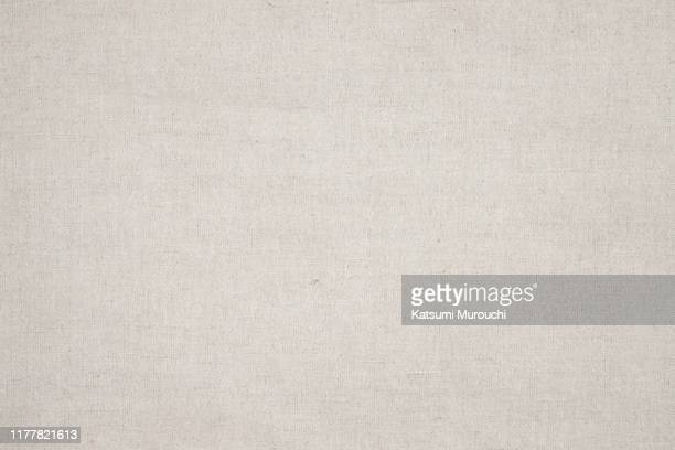 linen fabric texture background - beige foto e immagini stock