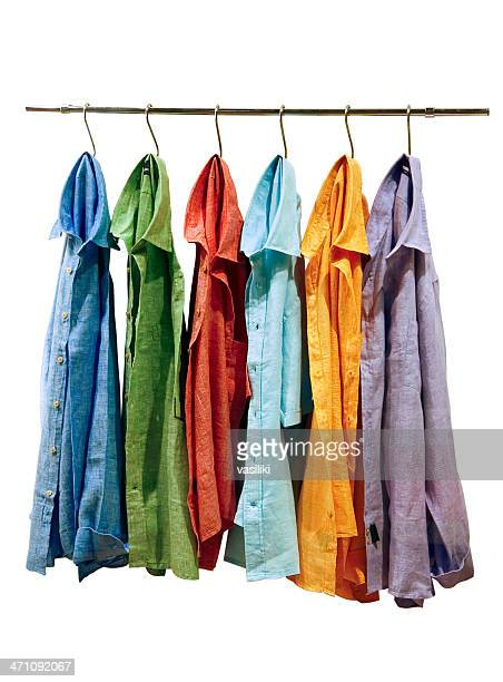 linen shirts - rack stock pictures, royalty-free photos & images