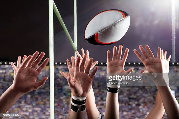 Line-out close up hands
