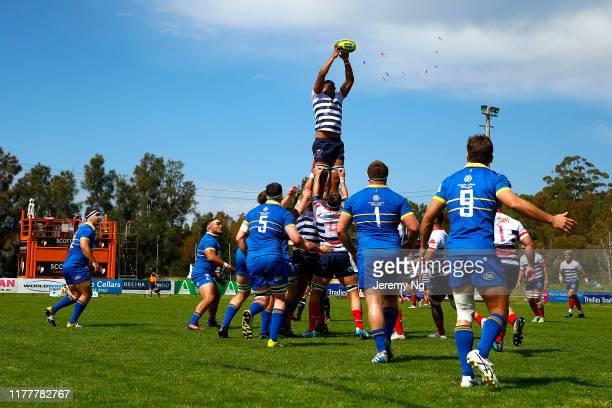 A lineout is seen during the round 5 NRC match between Sydney and Melbourne Rising at Forshaw Rugby Park on September 29 2019 in Sydney Australia