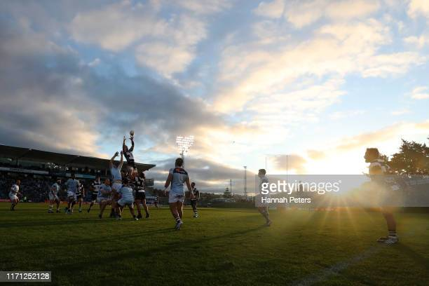 Lineout takes place during the round 4 Mitre 10 Cup match between Northland and Hawke's Bay at Semenoff Stadium on August 31, 2019 in Whangarei, New...