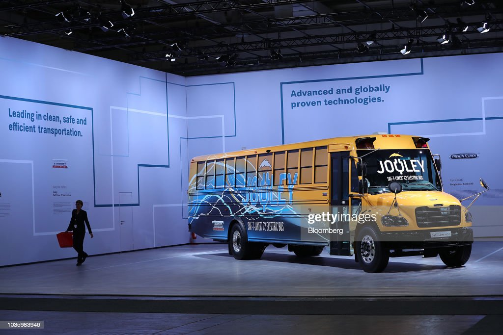 T- Liner EC2 electric school bus, manufactured by Thomas Built Buses