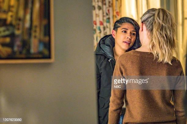 "Lines"" Episode 718 -- Pictured: Lisseth Chavez as Vanessa Rojas, Tracy Spiridakos as Hailey Upton --"