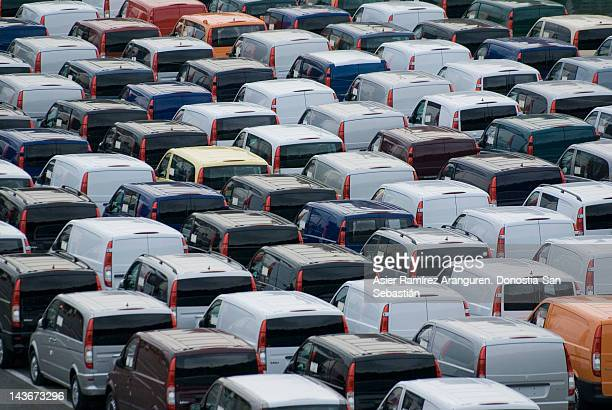 Lines of cars