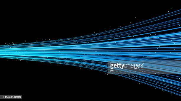 lines of particles flowing in a row - sonnenstrahl stock-fotos und bilder