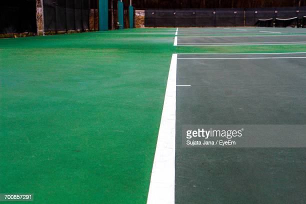 Lines On Tennis Court At Night