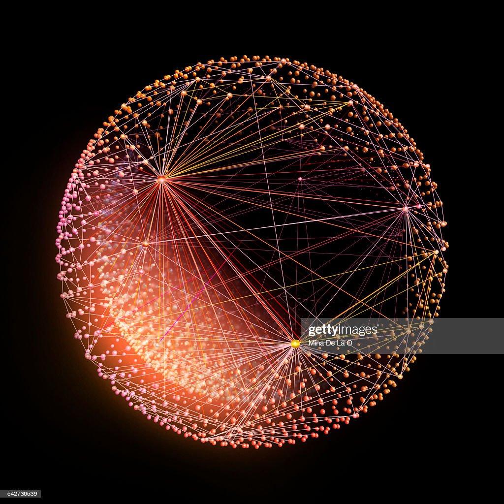 Lines sphere 01 : Stock Photo