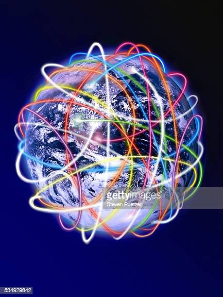 Lines Surrounding Globe