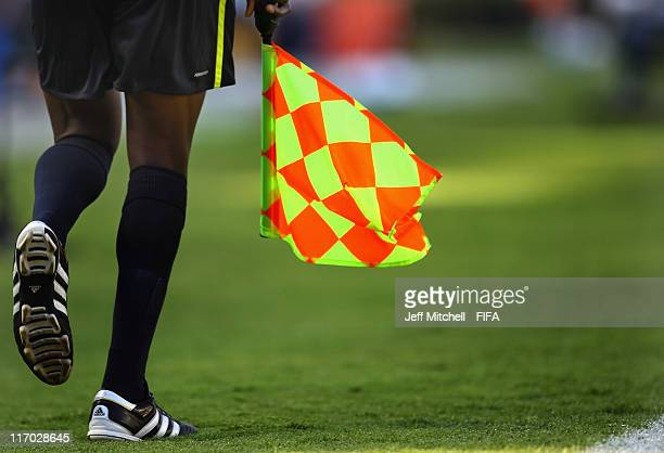 A linesman runs the line during during the Group B FIFA U17 World Cup match between Japan and France at the Universitario Stadium