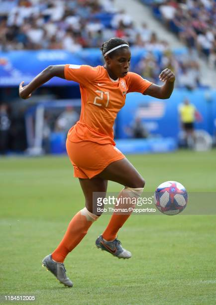 Lineth Beerensteyn in action for the Netherlands during the 2019 FIFA Women's World Cup France Final match between The United States of America and...