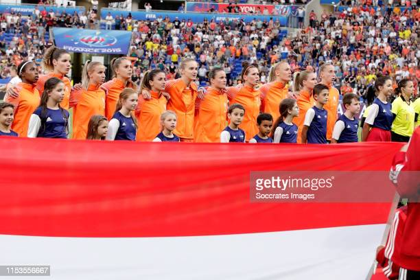 Lineth Beerensteyn of Holland Women Dominique Bloodworth of Holland Women Jackie Groenen of Holland Women Lieke Martens of Holland Women Danielle van...