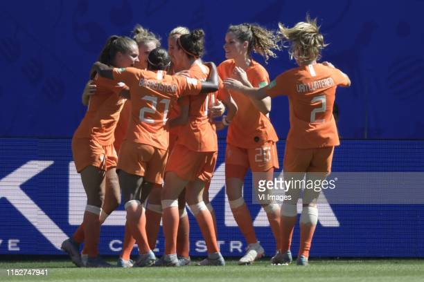 Lineth Beerensteyn of Netherlands women, Lieke Martens of Netherlands women, Vivianne Miedema of Netherlands women , Stefanie van der Gragt of...