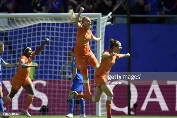 Lineth Beerensteyn of Netherlands women, Stefanie van der Gragt of Netherlands women, Merel van Dongen of Netherlands women during the FIFA Women's...