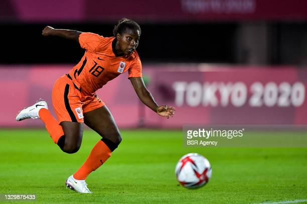 Lineth Beerensteyn of the Netherlands scores her side's ninth goal past Hazel Nali of Zambia during the Tokyo 2020 Olympic Football Tournament match...