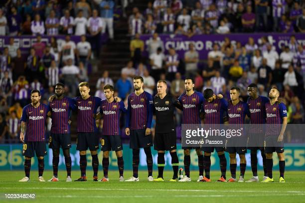 Lineup of Barcelona during the La Liga match between Real Valladolid CF and FC Barcelona at Jose Zorrilla on August 25 2018 in Valladolid Spain
