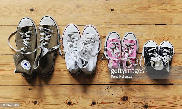 A line-up of Converse All-Stars