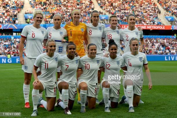 Lineup of England Millie Bright Steph Houghton Karen Bardsley Jill Scott Ellen White Lucy Bronze Toni Duggan Nikita Parris Fran Kirby Demi Stokes and...