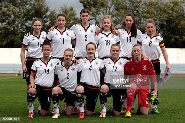 Lineup of Germany with Marleen Schimmer Lisa Ebert Lara Schmidt Elisa Skrotzki Gianna Rackow Lara Schejk Meryem Cal Chatal Isabell Munch Anna...