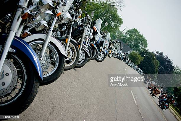 Lineup of motorcycles
