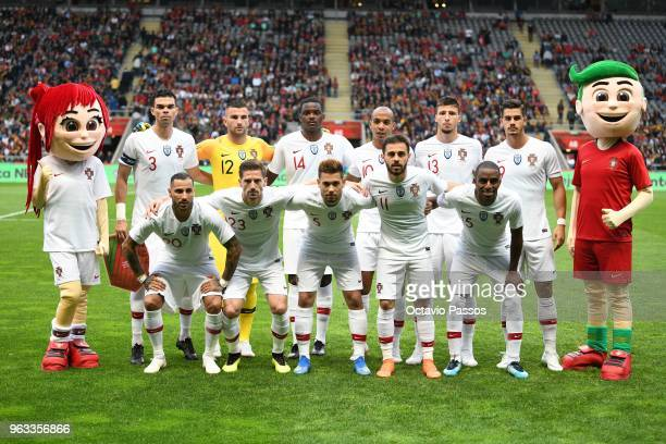 Lineup of Portugal ahead of the international friendly football match against Portugal and Tunisia at the Municipal stadium de Braga on May 28 2018...