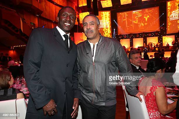 Linford Christie and Daley Thompson during the German Sports Media Ball at Alte Oper on November 7 2015 in Frankfurt am Main Germany